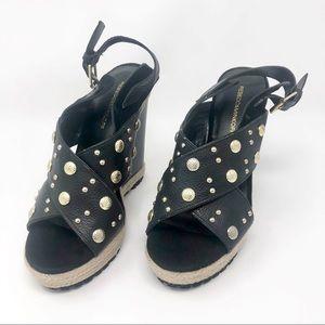 REBECCA MINKOFF 'Kimiko' Studded Wedge Sandal